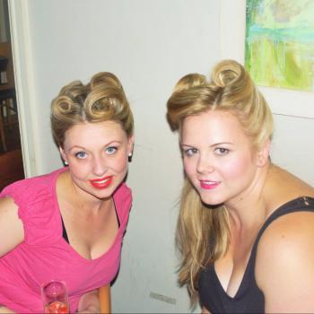 40's style wedding hair